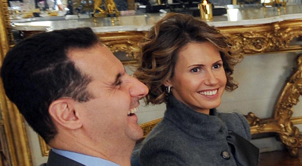 Bachar el-Assad et sa femme Asma, en visite officlelle dans la France de Sarkozy