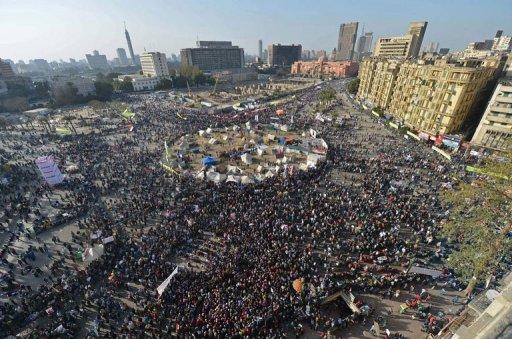 Manifestation le 25 janvier 2013 contre la présidence Morsi...