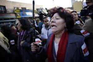 Le 6 février 2013, manifestation au Caire pour mettre fin aux violences sexuelles