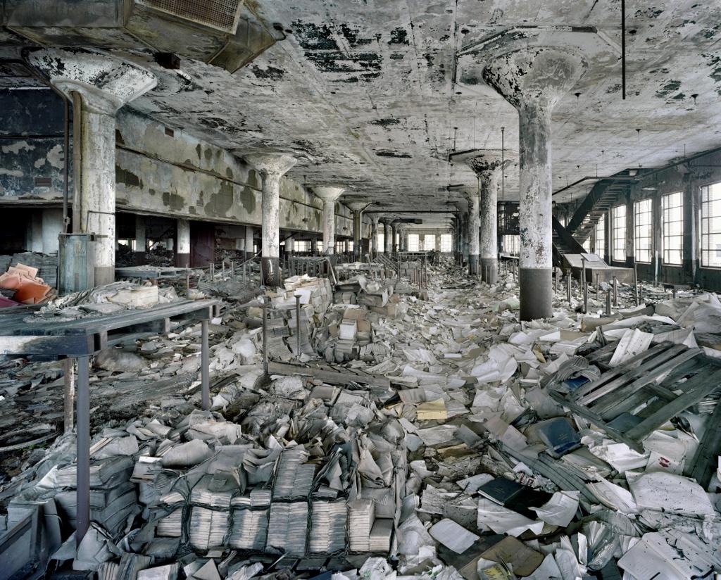 Le dépôt de livres et bibliothèque d'une école publique de Detroit