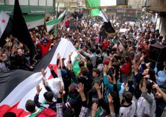 Manifestation à Alep, le 15 mars 2013