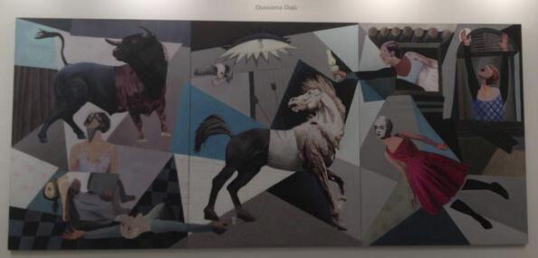 «Le nouveau Guernica» peint par Oussama Diab, artiste syro-palestinien