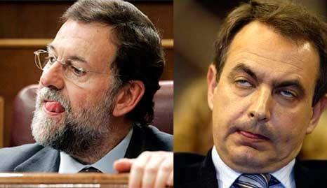 Rajoy et Zapatero