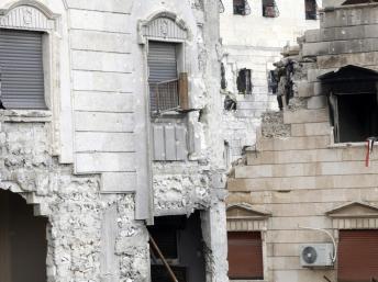 Alep bombardée le 16 février 2013