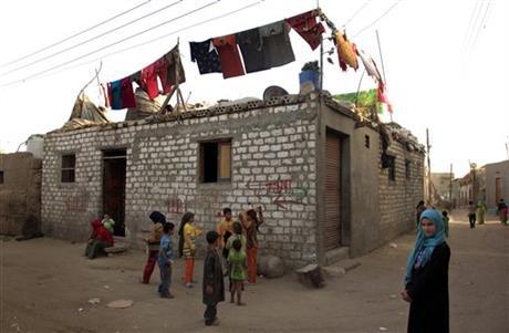 Réfugiés palestiniens en Egypte, à Gezirat al-Fadel, village  à 150 km à l'est du Caire