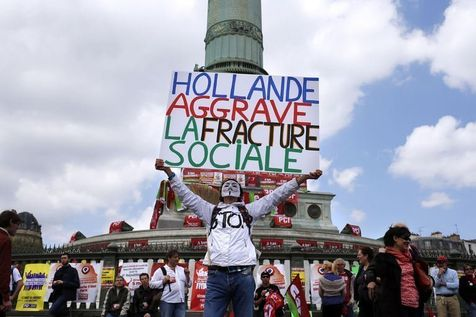 Manifestation du 5 mai 2013, Place de la Bastille