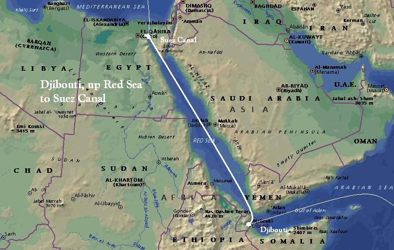 Une «zone stratégique»: le Canal de Suez....