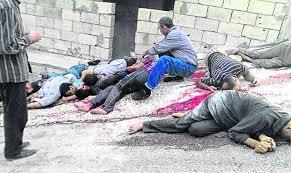 «Des terroristes armés» massacrés?