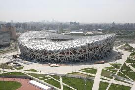 Le stade national Nid d'oiseau à Pékin pour les Jeux olympques
