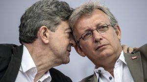 Mélenchon (du PG) et Pierre Laurent (secrétaire du PCF)