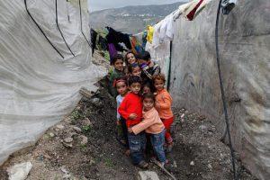 Jeunes réfugiés au nord du Liban, région de la Bekaa