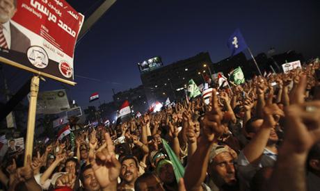 Mobilisation des pro Morsi le 28 juin 2013 à la Mosquée de Rabaa Al-Adawyla, dans la périphérie du Caire à Nasr Dity