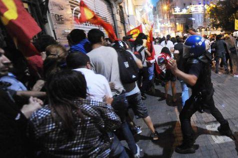 Place Taksim à Istanbul, le 22 juin 2013