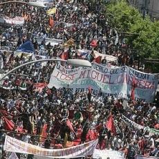 Manifestation à Valparaiso le 26 juin
