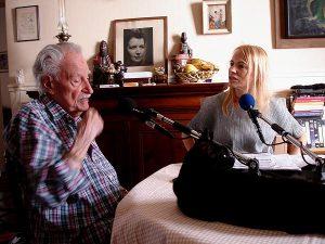 Maurice Nadeau et Laure Adler (Brigitte Bouvier © Radio France)