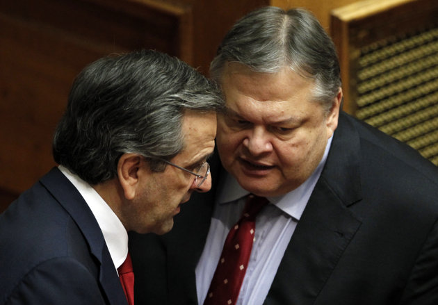 Antonis Samaras et Evangelos Venizelos