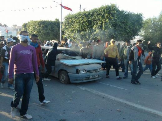 20 décembre 2010: «Confrontations entre manifestants  et forces de l'ordre à Sidi Bouzid»