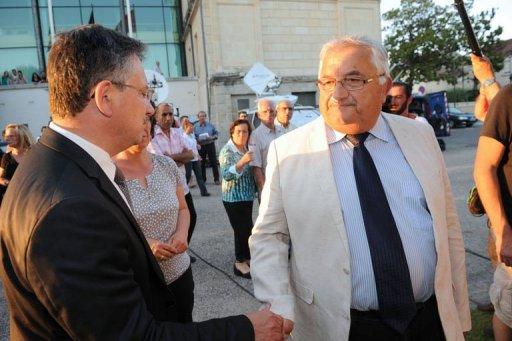 A droite: le candidat du PS, Bernard Barral, face à l'UMP: Jean-Louis Costes