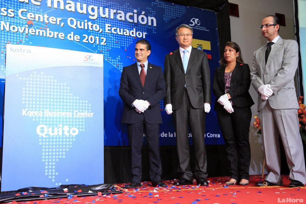 Inauguration du Centre de Corée du Sud à Quito, Equateur, en novembre 2012