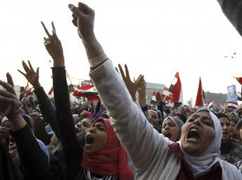 Place Tahrir, le 25 janvier 2013, deux ans après la chute de Moubarak