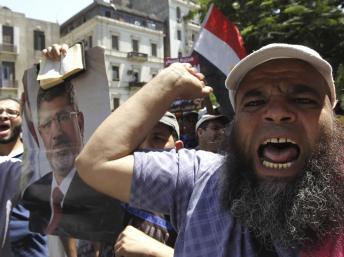 Manifestants des Frères musulmans le 22 juillet au Caire