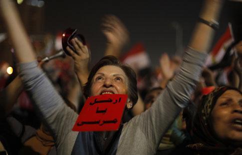 Elle salue la chute de Morsi