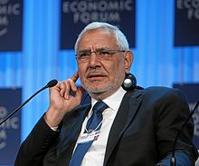 Abdel-Moneim Abou el-Fotouh, président du syndicat des médecins, en 2012 au World Economic Forum