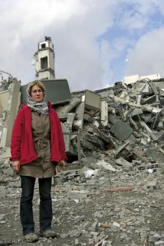 Ewa Jasciewicz à Gaza, en novembre 2009