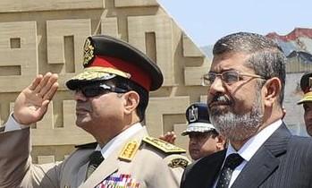 Abdel Fattah al-Sissi et Morsi
