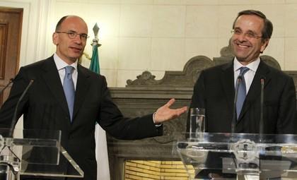 Le premier ministre Enrico Letta rencontre, le 29 juillet, son homologue Antonis Samaras et déclare: «La Grèce sort de la crise.» Et l'Italie?
