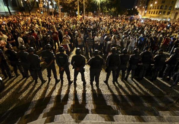 Manifestation à Rio de Janeiro le 24 juin 2013