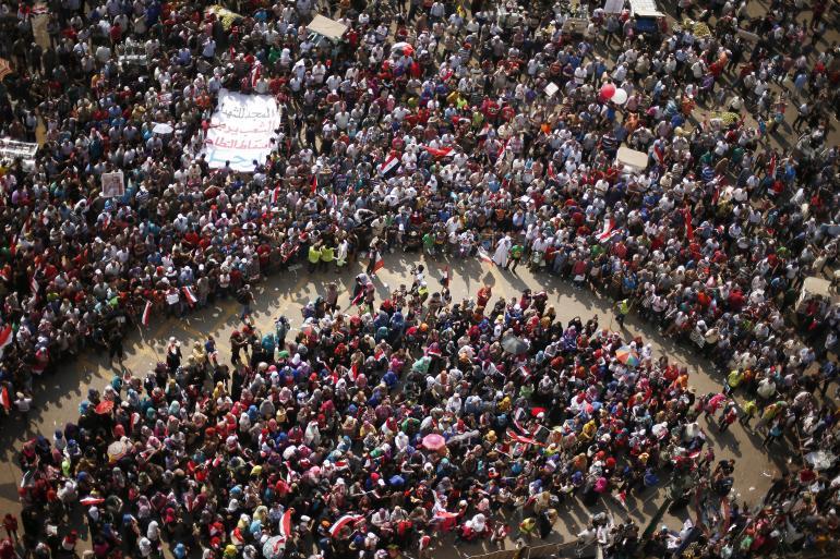 Manifestation au Caire le 1er juillet 2013 sur le thème «Morsi dégage!»