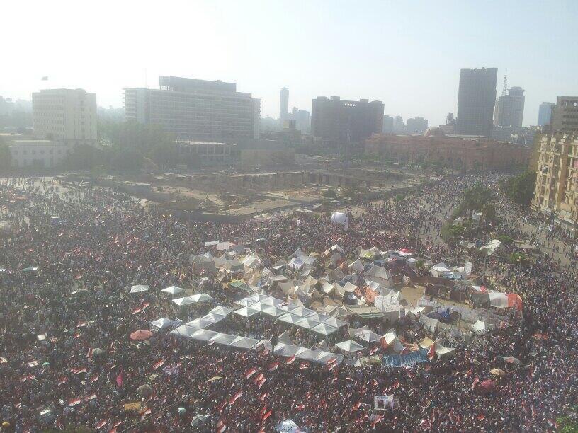 Photo de la place Tahrir, dimanche 30 juin, à 16h30