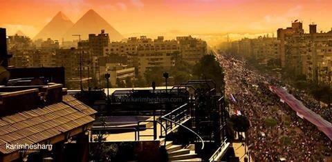 Photo extraordinaire: rue Haram au Caire à l'opposé des places Tahrir et du Palais présidentiel d'Ittihadiya
