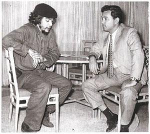 Le Che et Ricardo Napuri, à Cuba