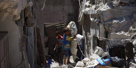 Après le bombardement du 26 juillet 2013 à Alep