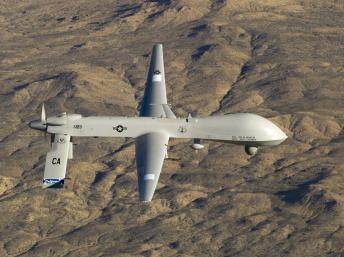 Drone Predator, un des ceux utilisés par l'armée états-unienne pour ses attaques au Pakistan ou au Yémen.