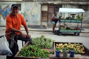 Vendeur ambulant à La Havane