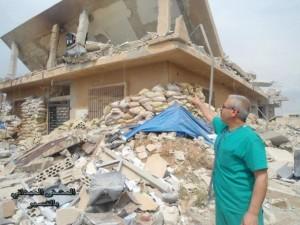 Hôpital détruit à Quousseir, mai 2013