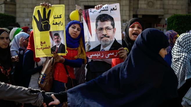 Manifestation de soutien à Morsi, le 3 novembre au Caire