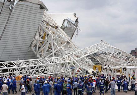 L'accident du 27 novembre à l'Arena Corinthians, dans le quartier d'Itaquera de São Paulo