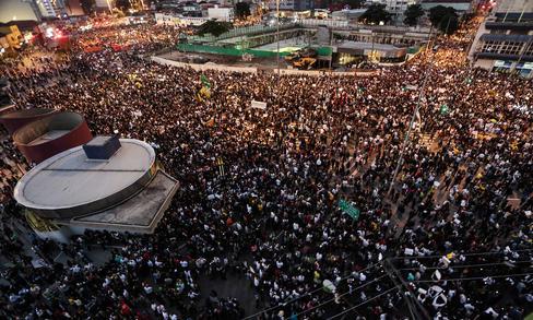 Manifestation en juin 2013 à São Paulo