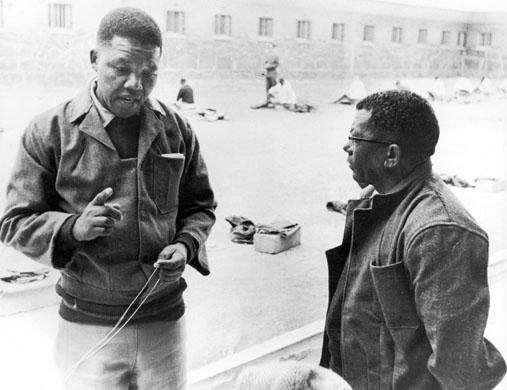 Nelson Mandela et Walter Sisulu