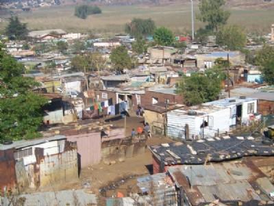Bidonvilles de Soweto en 2010