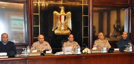 Al-Sissi siège au milieu du CSFA