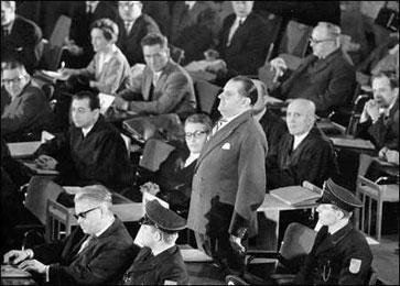 Oswald Kaduk, un des accusés