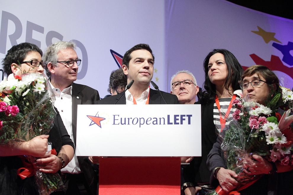 Alexis Tsipras, à Madrid, couronné «président de la gauche européenne», en décembre 2013