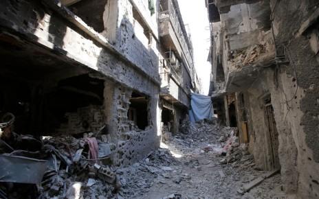 Le camp de Yarmouk, fin décembre 2013