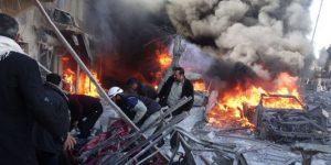 Bombardement sur Alep le 1er février 2014