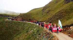 Manifestation de Celendin, le 3 février 2014